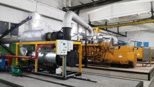 ТММ-ТМВГ.1100 в энергоцетнре рядом с Caterpillar D3516
